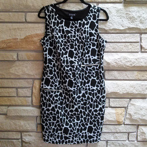 Enfocus Studio Animal Print Giraffe Sheath Dress